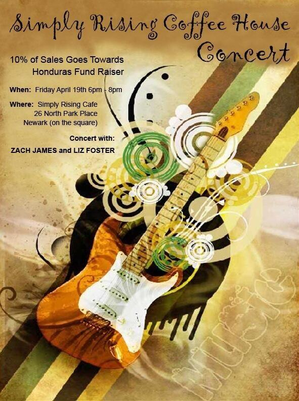 Zac Will Be In Concert @ Simply Rising Coffee House Apr. 19th, 6-8 PM w/Liz Foster!